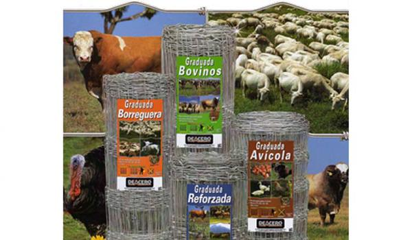 Woven wire fence for livestock